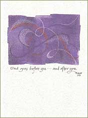 God Goes Before You Greeting Card