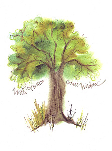 Oak Tree Birthday Greeting Card