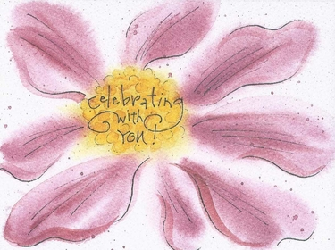 Celebrating With You Congratulations Greeting Card, message inside