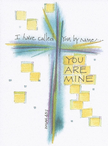 Isaiah 43:1 Confirmation Greeting Card, message inside