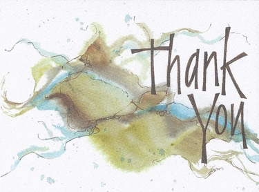 Natural Thank You Greeting Card, blank inside