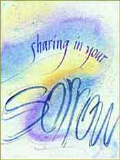 Sharing Sorrow Sympathy Greeting Card