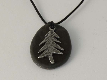 Remember to Walk in the Woods Rock Necklace