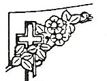 Cross & roses engraving design option