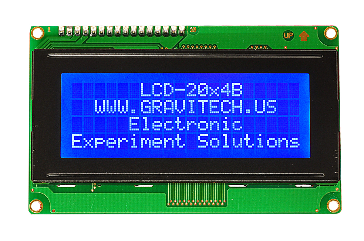 Wiring A Lcd Module For Arduino 20 X 4 Just Diagram Schematic 20x4 White On Blue Character With Backlight