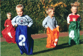 Jumping Bag Potato Sack Race Game Sacks included 4 Racing Bags
