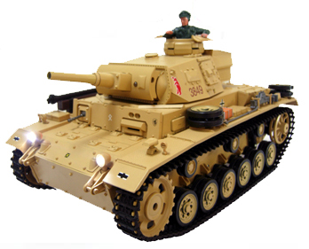 RC 1/16 Tiger-3 Tauch Panzer III Ausf.H Electric Radio Control Airsoft German Battle Tank