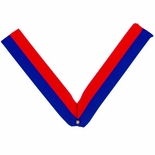 NECK RIBBON, BLUE AND RED
