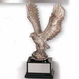 15-1/2 INCH EAGLE TROPHY, SILVER ELECTROPLATED