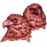 BRONZE DOUBLE EAGLE HEAD MOUNT, 5X4
