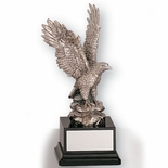 12 INCH EAGLE TROPHY, SILVER ELECTROPLATED