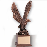 15-1/2 INCH EAGLE TROPHY,  BRONZE ELECTROPLATED