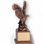 12 INCH EAGLE TROPHY, BRONZE ELECTROPLATED