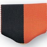 PIN RIBBON, BLACK & ORANGE