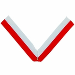 NECK RIBBON, RED AND WHITE