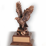 8-1/2 INCH EAGLE TROPHY, BRONZE, ELECTROPLATED