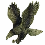 ANTIQUE BRASS RESIN EAGLE, 5-1/2