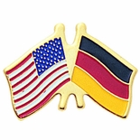AMERICAN GERMAN FLAG PIN