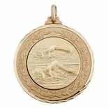 1 1/2 INCH MEDAL FRAME, SWIMMING MALE 1 INCH MEDALLION - MULTIPLE COLORS