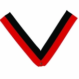 NECK RIBBON, RED AND BLACK