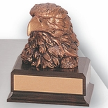 6-1/2 INCH EAGLE HEAD TROPHY, BRONZE ELECTROPLATED
