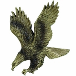 ANTIQUE BRASS RESIN EAGLE, 4-3/4