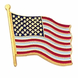 AMERICAN FLAG PIN 3/4 INCH