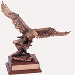 14 INCH EAGLE TROPHY, COPPER ELECTROPLATED
