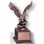 13 INCH EAGLE TROPHY,  BRONZE ELECTROPLATED