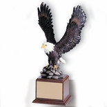 17 INCH EAGLE TROPHY,  HAND PAINTED