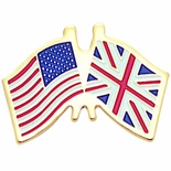 AMERICAN BRITISH FLAG PIN