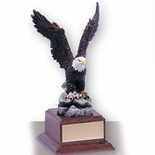 11-1/2 INCH EAGLE TROPHY, HAND PAINTED