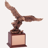 18-1/2 INCH EAGLE TROPHY, BRONZE ELECTROPLATED