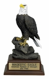 11 INCH MAJESTIC EAGLE TROPHY,  WITHOUT PLATE