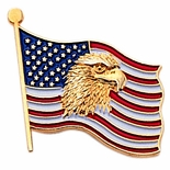 EAGLE & AMERICAN FLAG PIN