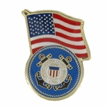 COAST GUARD AMERICAN FLAG PIN