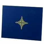 9-1/4 X 11-1/2 LINEN FOLDER WITH DESIGN, BLUE