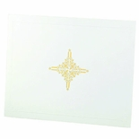 9-1/4 X 11-1/2 LINEN FOLDER WITH DESIGN, WHITE