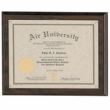 10-1/2 X 13 CERTIFICATE PLAQUE HOLDS 8-1/2 X 11