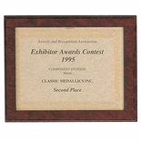 10-1/2 X 13 CERTIFCATE PLAQUE, RUBY