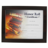 10-1/2 X 13 CERTIFICATE PLAQUE, WALNUT