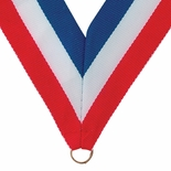NECK RIBBON RED, WHITE, BLUE