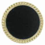 PLAIN BROOCH, BLACK INSERT DISC