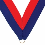 NECK RIBBON BLUE AND ORANGE