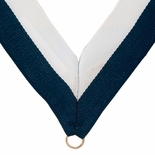 NECK RIBBON NAVY AND WHITE