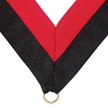 NECK RIBBON BLACK AND RED