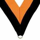 NECK RIBBON BLACK AND GOLD