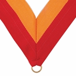 NECK RIBBON RED AND GOLD