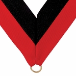 NECK RIBBON RED AND BLACK