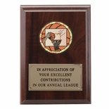 4-1/4  X  6 INCH PLAQUE WITH EMBOSSED PLATE TAKES INSERT